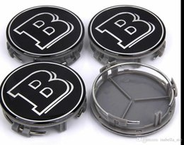 65 mm vw roda caps Desconto 4pcs 75 milímetros de Prata Car Center Roda Hub Caps Cap Hub tampa do emblema do emblema Para BRABUS