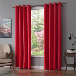 Cortinas de acabado online-Cortina opaca moderna para persianas de tratamiento de ventanas acabados cortinas cortinas opacas para ventanas de la sala de estar del dormitorio
