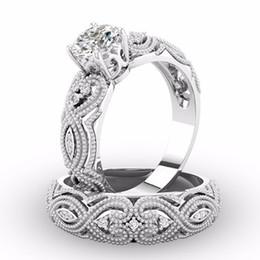 889f32450a89 nuevos anillos de oro de la boda Rebajas Nuevo Color Oro Blanco 2 UNIDS  Conjuntos de
