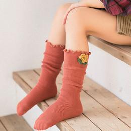 medias al por mayor del arco del cordón de las muchachas Rebajas Calcetines lindos de los niños Rodilla niño alto calcetín de arranque 2018 calcetines de fútbol calentador de la pierna para niñas niños accesorios de ropa