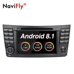 Mercedes benz gps navigazione dvd online-NaviFly Android 8.1 Autoradio lettore DVD multimediale per Mercedes / Benz W211 W209 W219 W463 Navigazione GPS classe E Canbus 1024 * 600