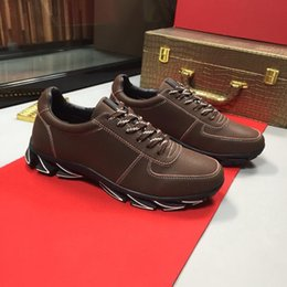 2020 chaussures de bouts brunes 2019 Mode LunarGrand Wingtip Derby Marron Noir Baskets Designer De Luxe Baskets Marque Hommes Casual Chaussures En Cuir Chaussures chaussures de bouts brunes pas cher