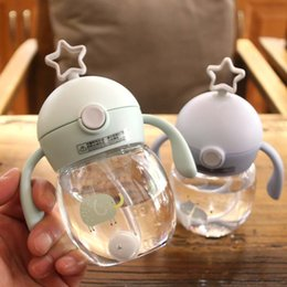 Bouteilles de tritan en Ligne-280ML Bébé Infant Tritan BPA Gratuit Biberon À Lait Avec Anti-Slip Poignée Coupe Couvercle Bouteille D'eau