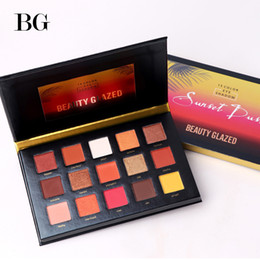 матовая 15 палитра теней для век Скидка BEAUTY GLAZED 15 Color Eyeshadow Pallete Make up Long-lasting Eye Shadow Matte Easy to Wear Makeup Palette paleta de sombra