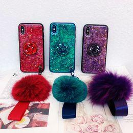 Bling Marble Glitter Bracket Epoxet Ball Ball Case para iPhone XR XS MAX X 6 7 8 Samsung S8 S9 S10 Plus S10E Nota 9 J2 J5 J7 Primer desde fabricantes