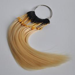 Extensões de cabelo permanente on-line-30 PCS 100% Real Remy Anel de Cor Do Cabelo Humano para o Cabelo Extensão Humana Chat Dye Bleach Perm