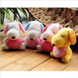 brinquedos usados frete grátis Desconto Plush kawaii Snoopy Bonecas Bichos de pelúcia Brinquedos 10 cm SNOOPY Dog Bagpack Pingente 4 Cores Presentes de Natal do Namorado