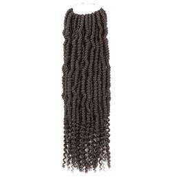 Extensões de cabelo de corda on-line-Fibra Química moda Alta Temperatura Flame Retardant Fio 14 Polegada Trançado Algemas Dois Torcida Corda Tranças Extensão Do Cabelo