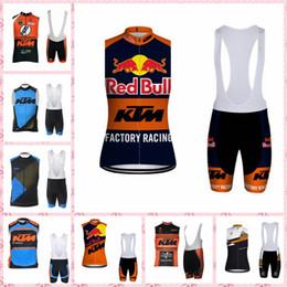 KTM equipe Ciclismo Sem Mangas jersey Vest conjuntos de bermudas Respirável de Secagem Rápida de Poliéster Ao Ar Livre esportes de qualidade verão mens F52210 de