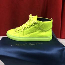 markcenter new man green arena scarpe tutto in vera pelle suola opaca free dhl grande taglia 39-45 da