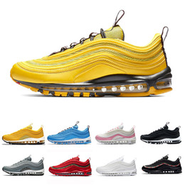 timeless design 7776f 6ae2c Nike Air Max airmax 97 New Bright Citron Red Leopard 97 Hommes Femmes  Chaussures de course Blue Hero BOLD PULL TABS Moutarde Bordeaux Crush basket  97s ...