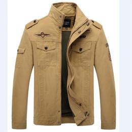 Erkekler Ceket Jean Ordu Asker Pamuk Bir Erkek Marka Giyim Güzel Bahar Sonbahar Erkek Ceket Artı M-6XL cheap soldier jacket nereden asker ceketi tedarikçiler