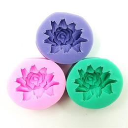Mini rose silikon online-Silikon Rose Design Kuchen Formen Mini 3D Blume Handgemachte Seife Formen Praktische Lebensmittelqualität Resuable Backenwerkzeuge Für Küche zhao