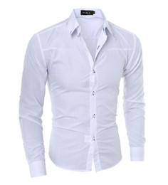 2019 mens formales hemd schlank 2019 Luxury Mens Slim Fit Hemd Langarm Hemden Casual Formal Business Shirts Feste Marke Kleidung camisa social masculina M-4XL günstig mens formales hemd schlank