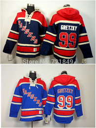 Argentina Factory Outlet, Discount Mens ny New York Rangers camisetas con capucha # 99 Wayne Gretzky Old Time Hockey Hoodies Sudaderas Tamaño M - 2XL supplier sweatshirt discount Suministro