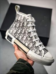 Canada B23 Nouveau 2019 DIOR x Kaws Oblique Haut Haut Baskets Hommes Baskets Skateboard Chaussures Casual Femmes Skate Chaussures Femmes Bottes Décontractées Taille 36-44 Offre