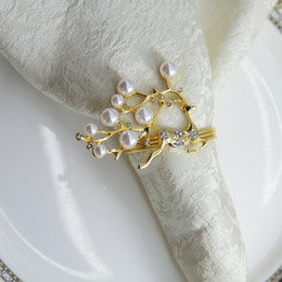 2020 золотой олень qn19012201 free shipping Silver Gold Reindeer with pearl napkin ring wedding holiday decoration , cheap napkin holder 12 pcs дешево золотой олень