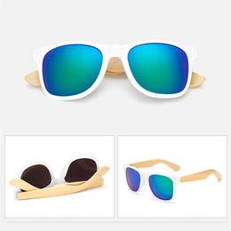 Canada Unisexe jambe de bambou lunettes de soleil polarisé classique Carré lunettes de protection conduite Lunettes de soleil miroirs Point Eyewear Mode Homme Femme Lunettes LE309-U cheap eyewear legs Offre