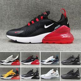 Zapatas de hierro para planchar online-Nike Air Max 270 Cojín OG y amortiguación de goma zapatillas de deporte corrientes de peso ligero 27C OG malla transpirable de amortiguación zapatos atléticos de los deportes 36-45