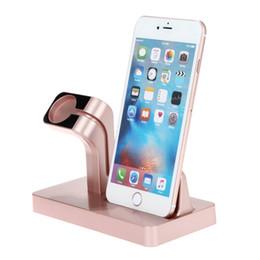dock de telefone universal Desconto Suporte do telefone móvel universal stand 2 em 1 de carregamento doca titular stand suporte acessórios para iphone assistir