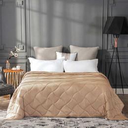 luz verde consolador conjuntos Desconto Algodão Ponderado Cobertor para Adulto Ajuda Dormir Descompressão Gravidade Quilt Pressão Grande Terapia Do Sono vermelho preto branco dourado