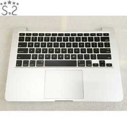 """Macbook 13 hintergrundbeleuchtung online-Original A1502 Palmrest Gehäuse Hintergrundbeleuchtung Tastatur für MacBook Pro Retina Topcase Ende 2013 Mitte 2014 13 """"A1502 US Tastatur"""