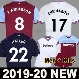 west ham chemise unie Promotion 19 20 maillot de foot West Ham United 2019 2020 HALLER ANDERSON RICE FORNALS troisième maillot à l'extérieur ANTONIO NOBLE maillots de football hommes kit uniformes