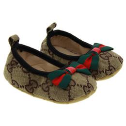 Canada 2019 bébé fille chaussures mignonne princesse bowknot enfant anti-slip sur chaussures 0-18 mois bambin crochet boucle boucle premiers marcheurs Offre
