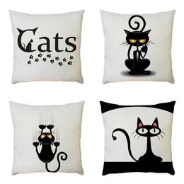 cojines de superman Rebajas Funda de almohada Tong Card Lovely Black Kitty Idea Creativa Bardian Cojín Moda Popular Cubierta de la Venta Vender Bien Párrafo 5 2bz p1