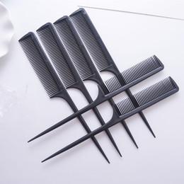 brosse humide originale Promotion Vente en gros- 20PcS / Lot Salon Outils de beauté professionnels Black Pointed Tail Comb