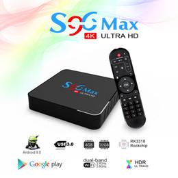 2019 iptv smart tv-box Neue Arrvial S96 MAX Android 9.0 TV-Box 4 GB 32 GB USB3.0 2,4 G 5 G WiFi IPTV Smart TV-Box VS H96 MAX MXQ PRO X96 MINI günstig iptv smart tv-box