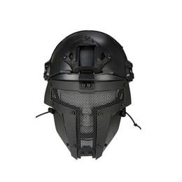 pescoço aquecedores snowboard Desconto Novo Capacete Ao Ar Livre Malha esportes Motorbike Capacete Máscara Facial Fã Do Exército