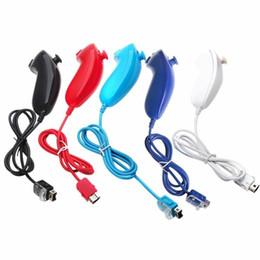 Uzaktan Nintendo Wii Konsol 5 Colors For Sol Nunchuck Video Oyunu Kontrolörü nereden boscam fpv tedarikçiler