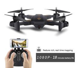 Mini câmera wifi em tempo real on-line-2019 Venda Quente RC Drone Mini Dobrável Selfie Zangão com Wi-fi FPV TEMPO REAL 1080 P HD Câmera Altitude Hold Quadcopter Hot Xmas Presente