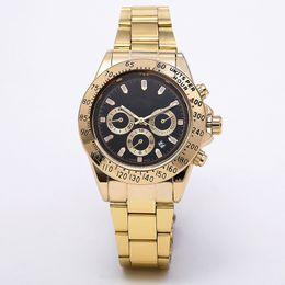 mens relojes Masculino Relogio marcado Negro diseñador de moda del vestido de lujo Calendario de oro pulsera broche plegable matriz macho 222 regalos parejas desde fabricantes