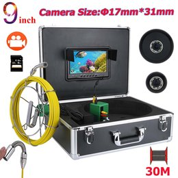 20m 7inch 17mm Industrial Pipe Sewer Inspection Video Camera Ip68 Waterproof Drain Pipe Sewer Inspection Camera Easy To Use Security & Protection