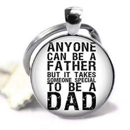 guitarras bohemias Rebajas Cualquiera puede ser padre, pero se necesita a alguien especial para ser papá, cabujón de cristal, llavero, colgante, accesorios de moda, llaveros de metal plateado