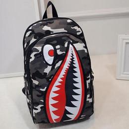 modo del sacchetto di spalla del gatto Sconti Sacchetto casuale dello studente di viaggio del pacchetto del fumetto dello squalo di personalità degli uomini e delle donne dello zaino di modo Vendita libera di trasporto