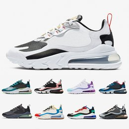 zapatillas transpirables para mujer Rebajas Nike air max 270 react shoes BAUHAUS white Blue React men running shoes OPTICAL triple black mens trainers breathable sports outdoor sneakers 40-45