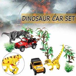 Büyük Boy Dinozor Dünya Küçük Araba Römork Transporter Modeli Eğitim Oyuncak Seti Yeni Plastik Oyun Oyuncaklar Boys Için Çocuk Çocuk hediye cheap toy trailers nereden oyuncak römorkları tedarikçiler
