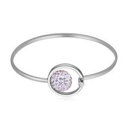 New Fashion Einfache Günstige Armband Mädchen Frauen Luxus Silber Überzogene Kette Schnitzen Muster Oval Party Travel Bangle Weiblichen Schmuck von Fabrikanten