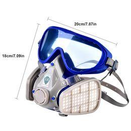 Mascheramento a spruzzo online-2019 Verniciatura Gas Mask Occhiali Respiratore anti-polvere Eye Maschera carbone attivo sputafuoco