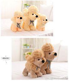 perro de peluche caniche de juguete Rebajas T483 HOT dog Plush Doll Toys Cute CANDY colors dogs Stuffed Toys Poodle Stuffed Animals Doll Niños Regalo