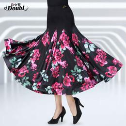 seide lange abendröcke Rabatt Doubl Neuheiten National Standard Dance Ballroom Rock Kleid Langer Abend Wogender Moderner Walzer Tango Ice silk Dancewear