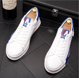 2019 scarpe hip hop uomini Scarpe bianche da uomo stazione europea marea stilista da uomo scarpe casual fondo spesso all'interno scarpe Lok Fu aumentate hip hop traspiranti scarpe hip hop uomini economici