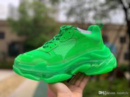 Ботинки для ботинок онлайн-Модный дизайнер Luxury BL Triple S Кроссовки для мужчин и женщин на высоких каблуках Кроссовки Old Grandpa Trainers Баскетбол Боулинг Кроссовки