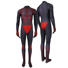 red jumpsuit costume Coupons - Adult Men Kids Game Kingdom Hearts III Protagonist Sora Vanitas Cosplay Costume Lycar High Quality Superhero Zentai Party Bodysuit Jumpsuit