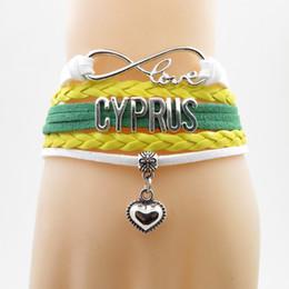 land flaggen armbänder Rabatt Unendlichkeit Liebe Zypern Armband Herz Bettelarmband Liebe Zypern Landesflagge Armbänder Armreifen Für Frau Und Mann Schmuck