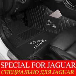 Logo envolvente online-Diseño de moda de lujo Surround Custom Fit alfombras de piso de coche para Jaguar XF F Pace Tipo F Tipo XFR XJ XK XK8 XKR Alfombra de cuero con LOGOTIPO del automóvil