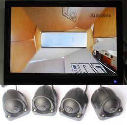 monitor de camara para buses Rebajas Autobús Autocaravana Autobús escolar Sistema de cámara de visión envolvente de 360 grados Monitorización de ojo de pájaro SVM DVR (estilo de imagen grande) dvr de automóvil